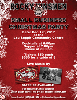 Rocky Kinsmen Christmas Party Poster